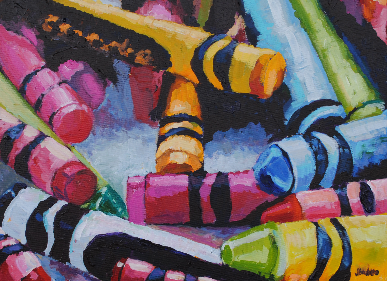Crayons 4 18x24
