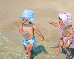 Ralston Beach Babies 2 16x20