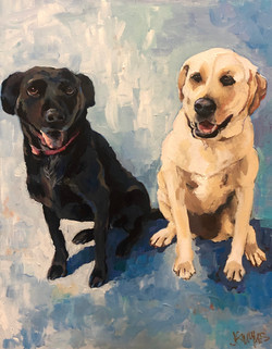 Bailey and Mollie 16x20