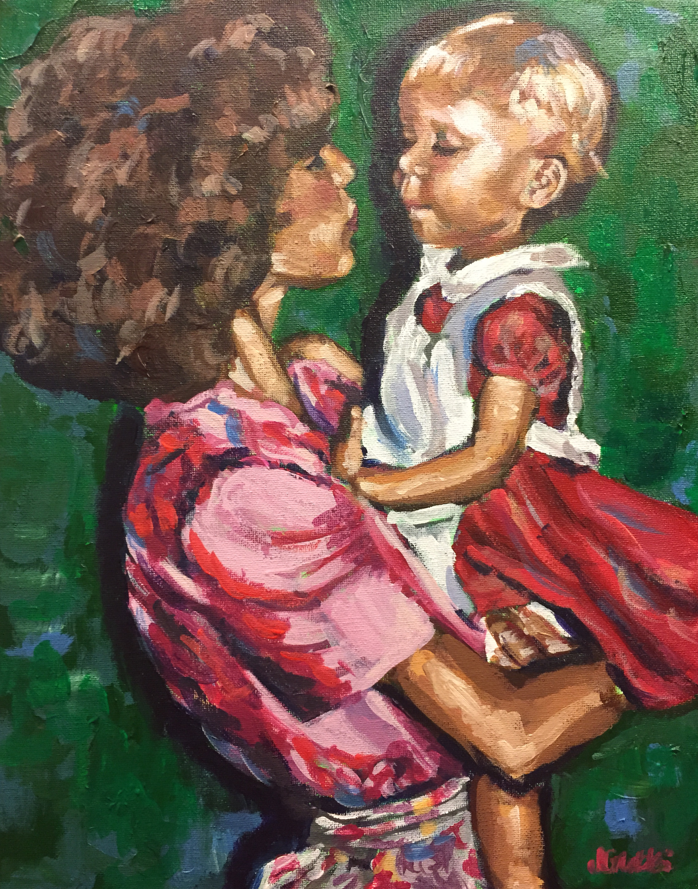 Stephanie Kissing Mama 11x14