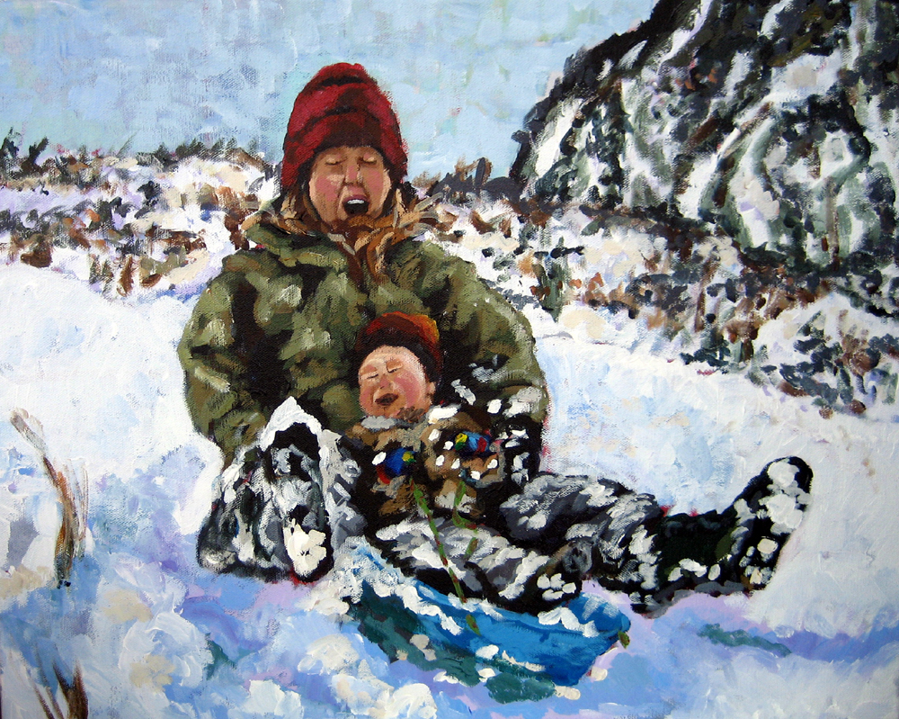 Sled Baby 24x30