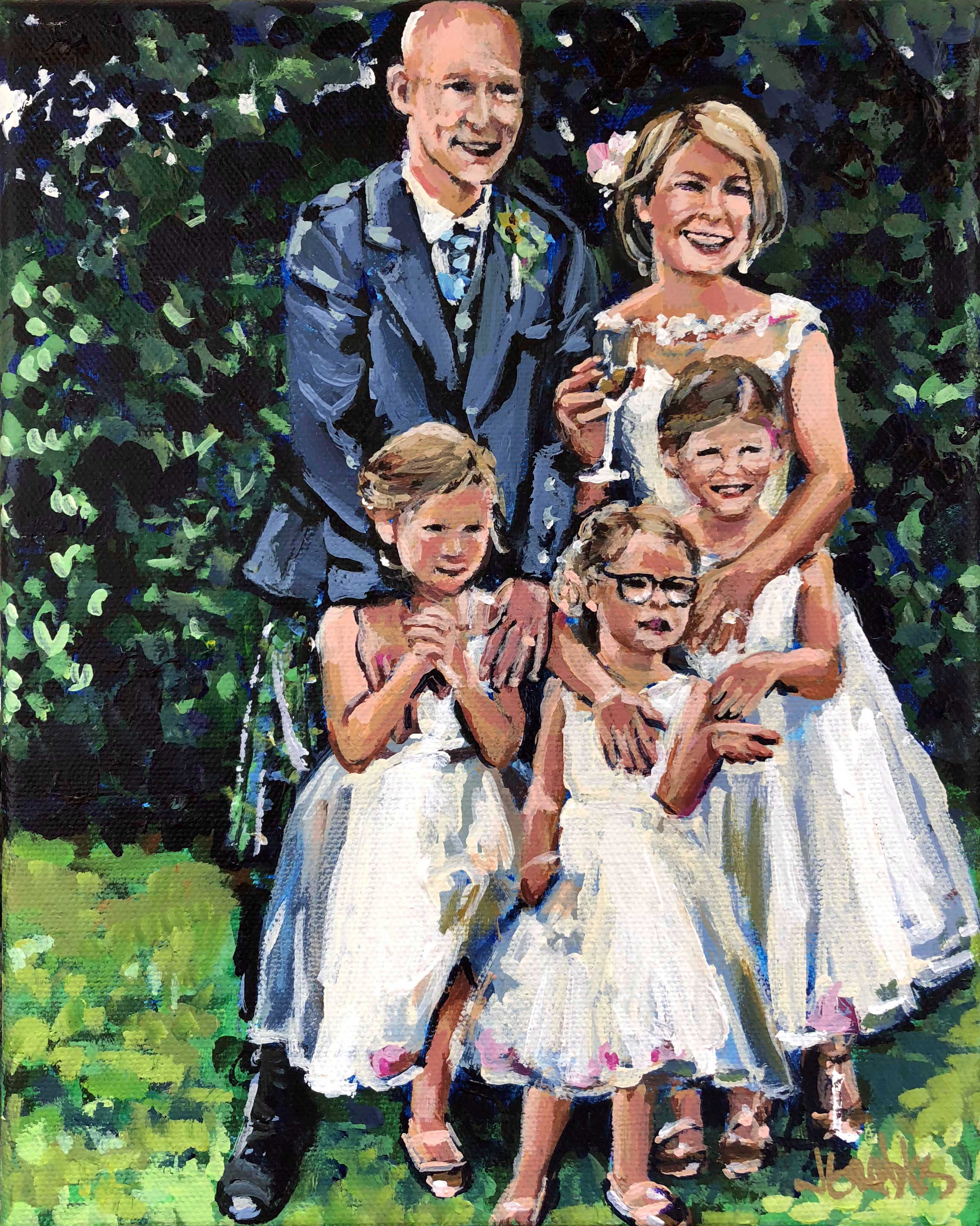 Scotland Wedding Family 8x10