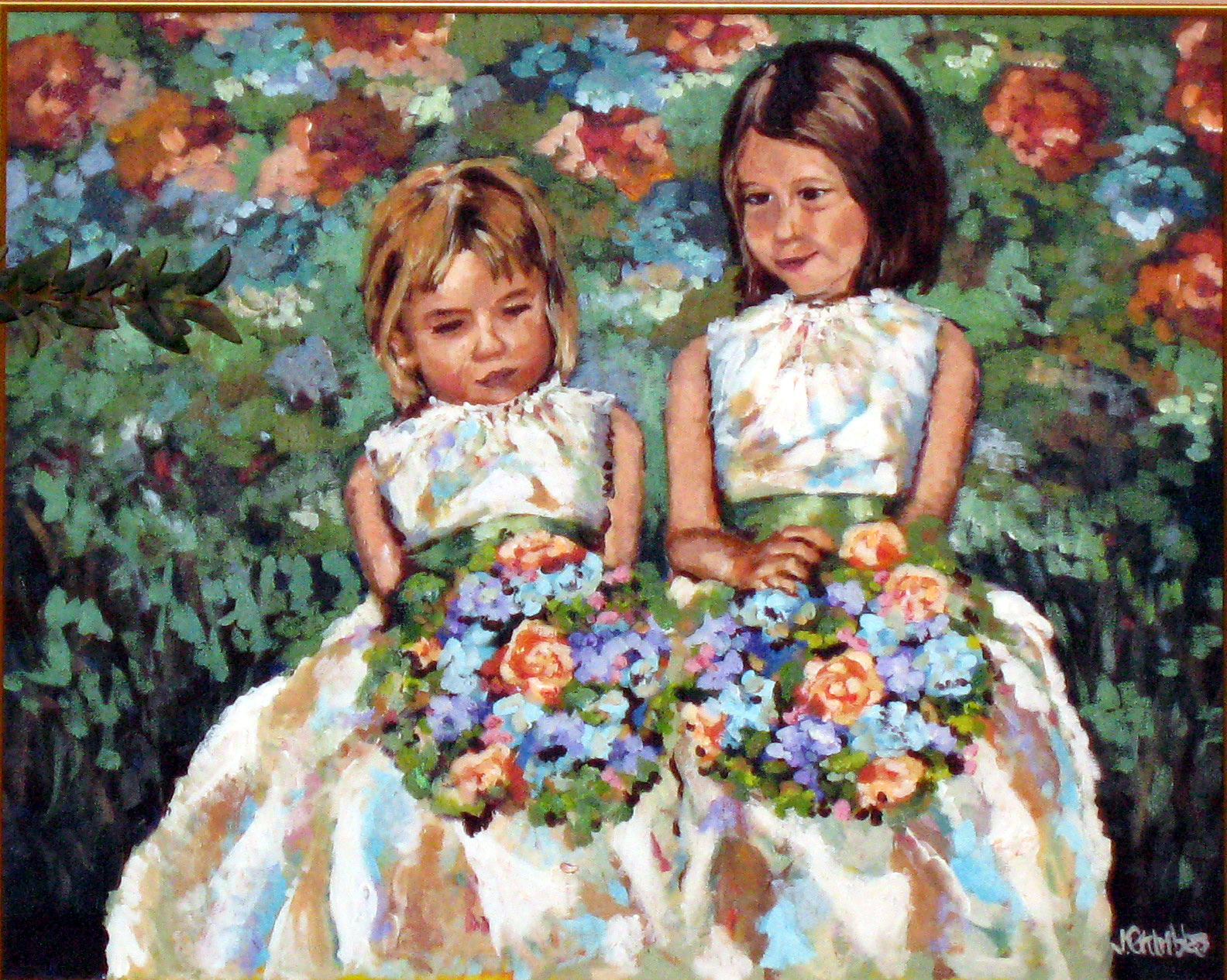 Flower Girls 24x30