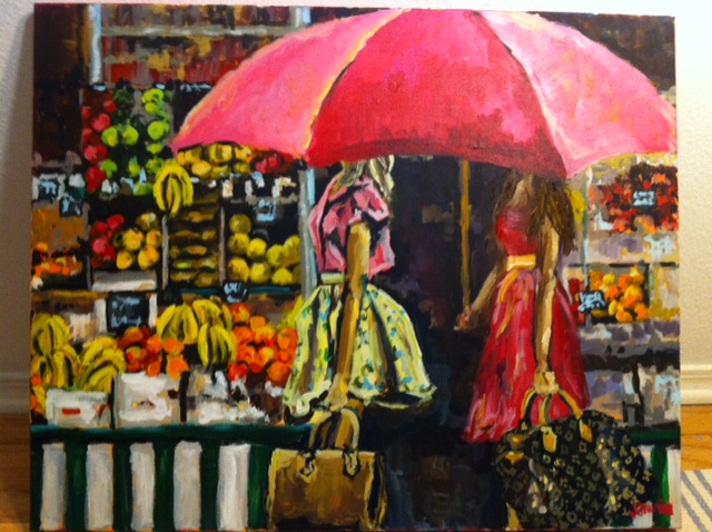 Fruit Market 24x30