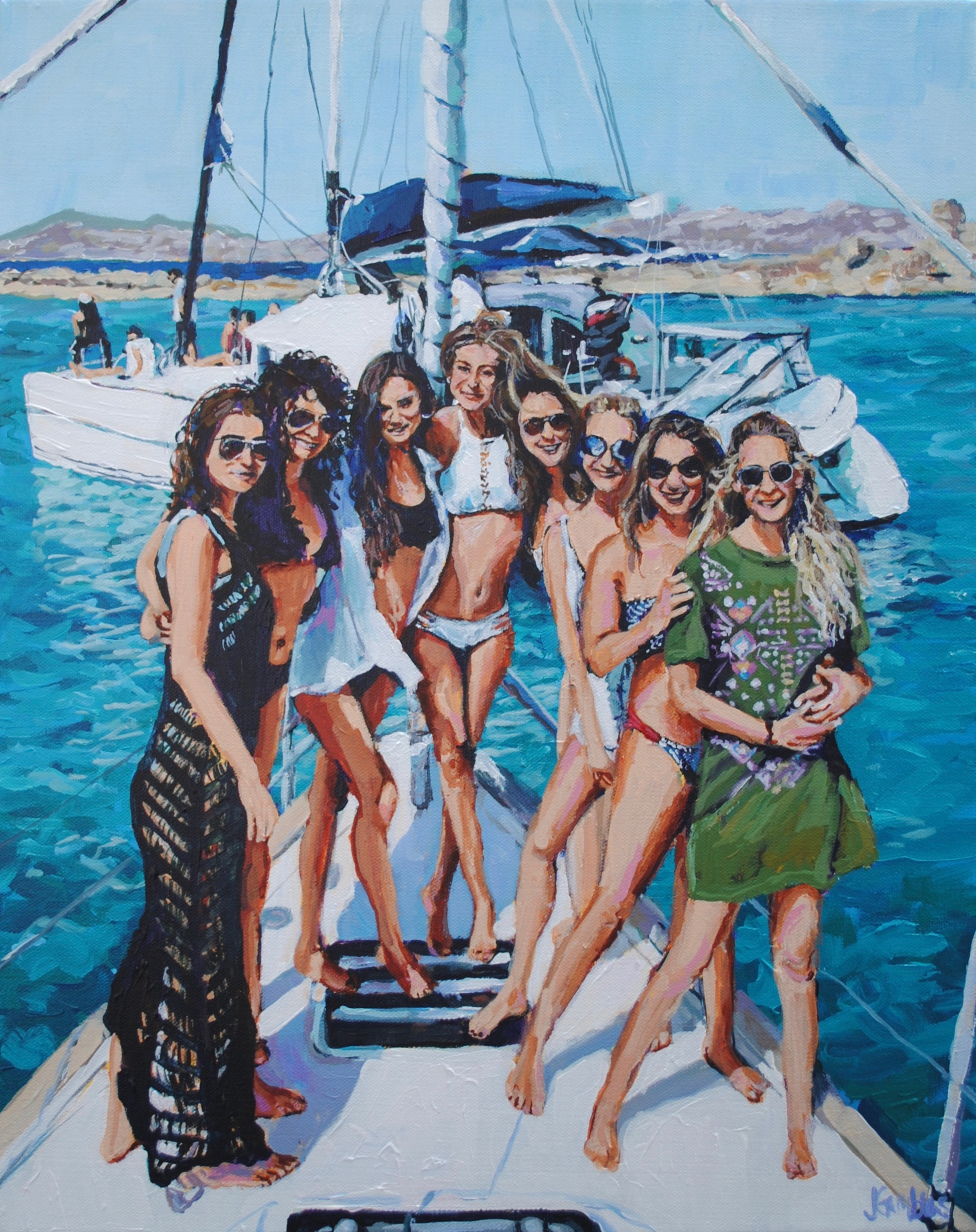 Greece Girls 16x20