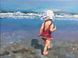 Hamlin Beach Baby 9x12