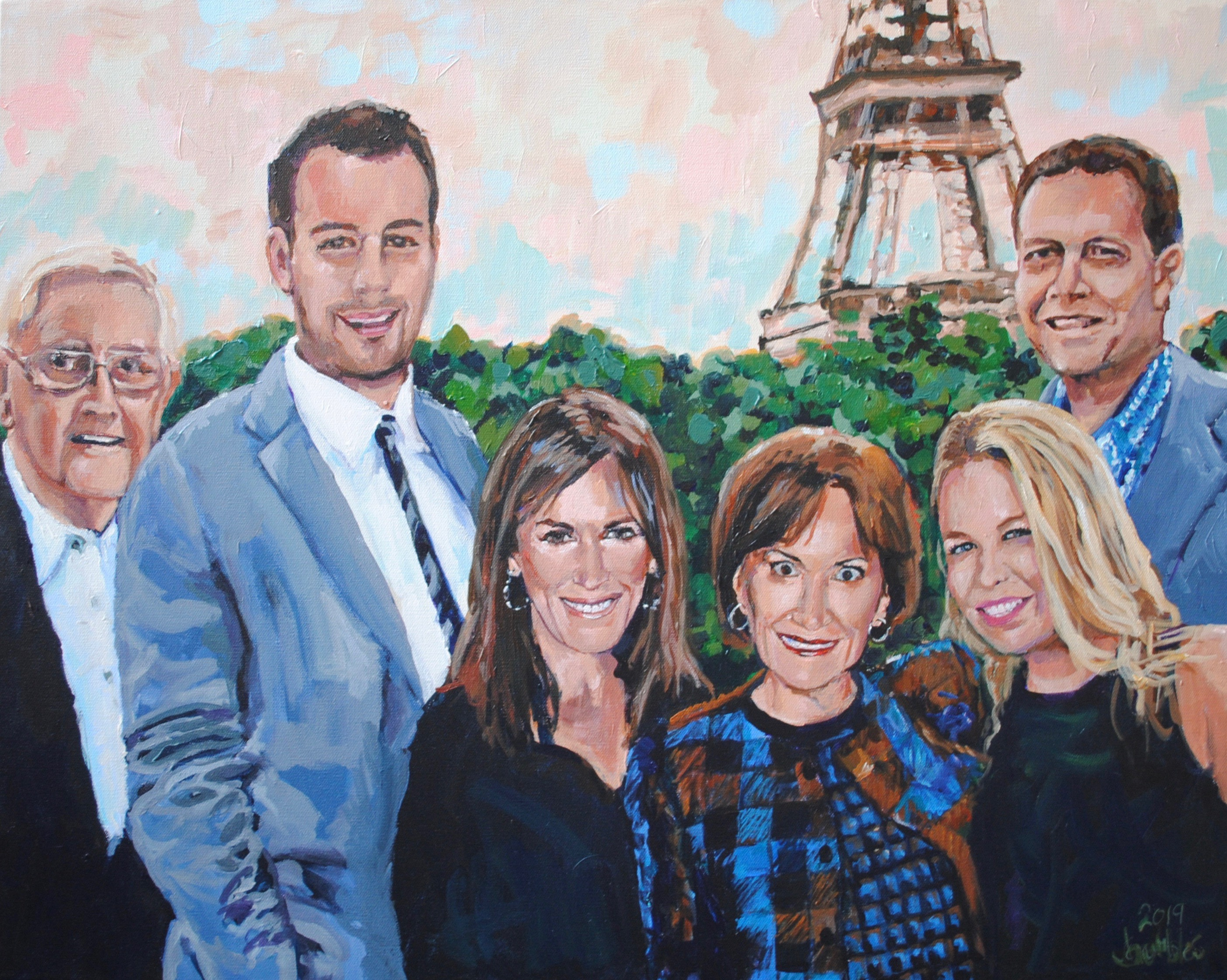 Julie's Family 24x30