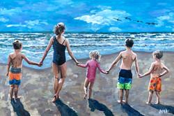 Port A Beach Kids 24x36