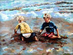 Beach Baby Boys 16x20