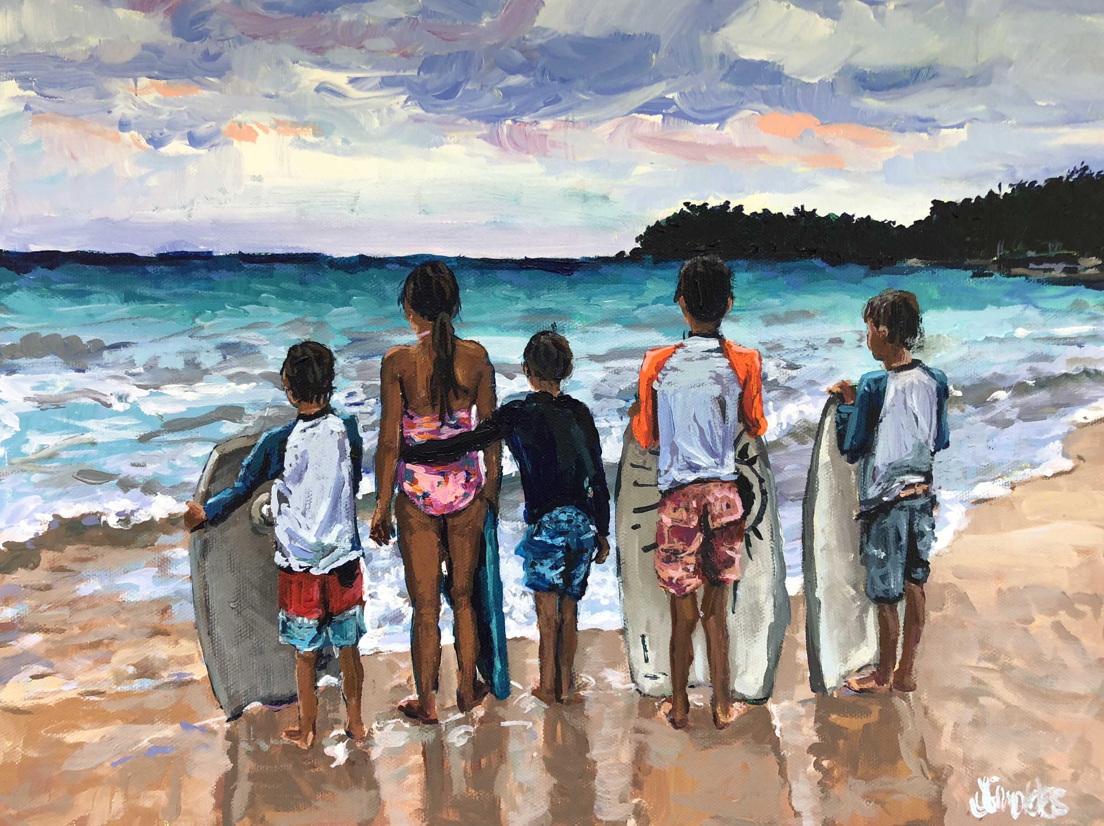 Beach Friends 12x16