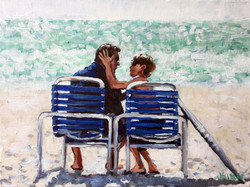 Father's Day at the Beach 9x12