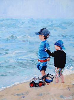 Hrabic Beach Babies 12x16