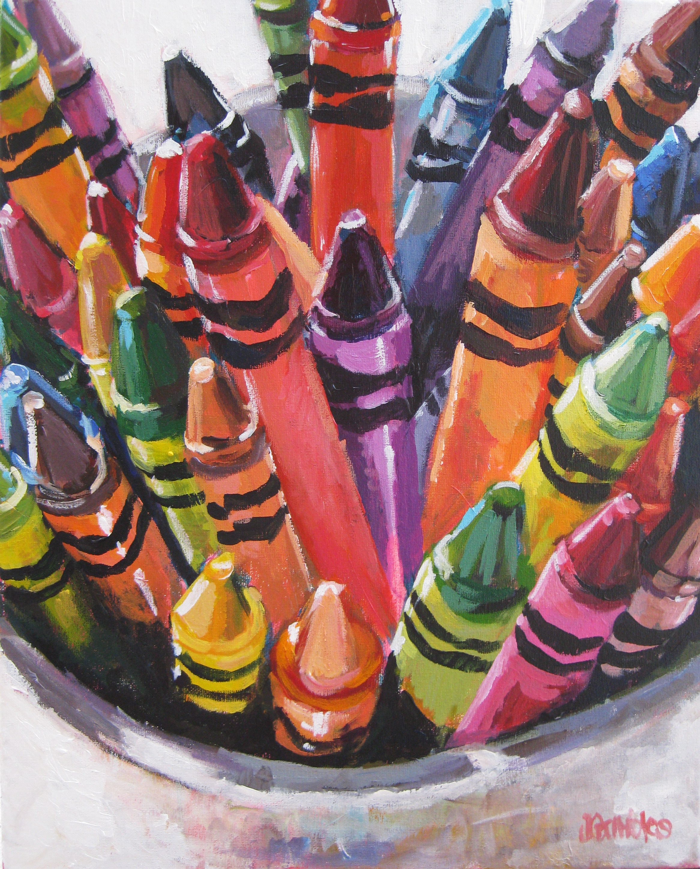 Crayons 16x20