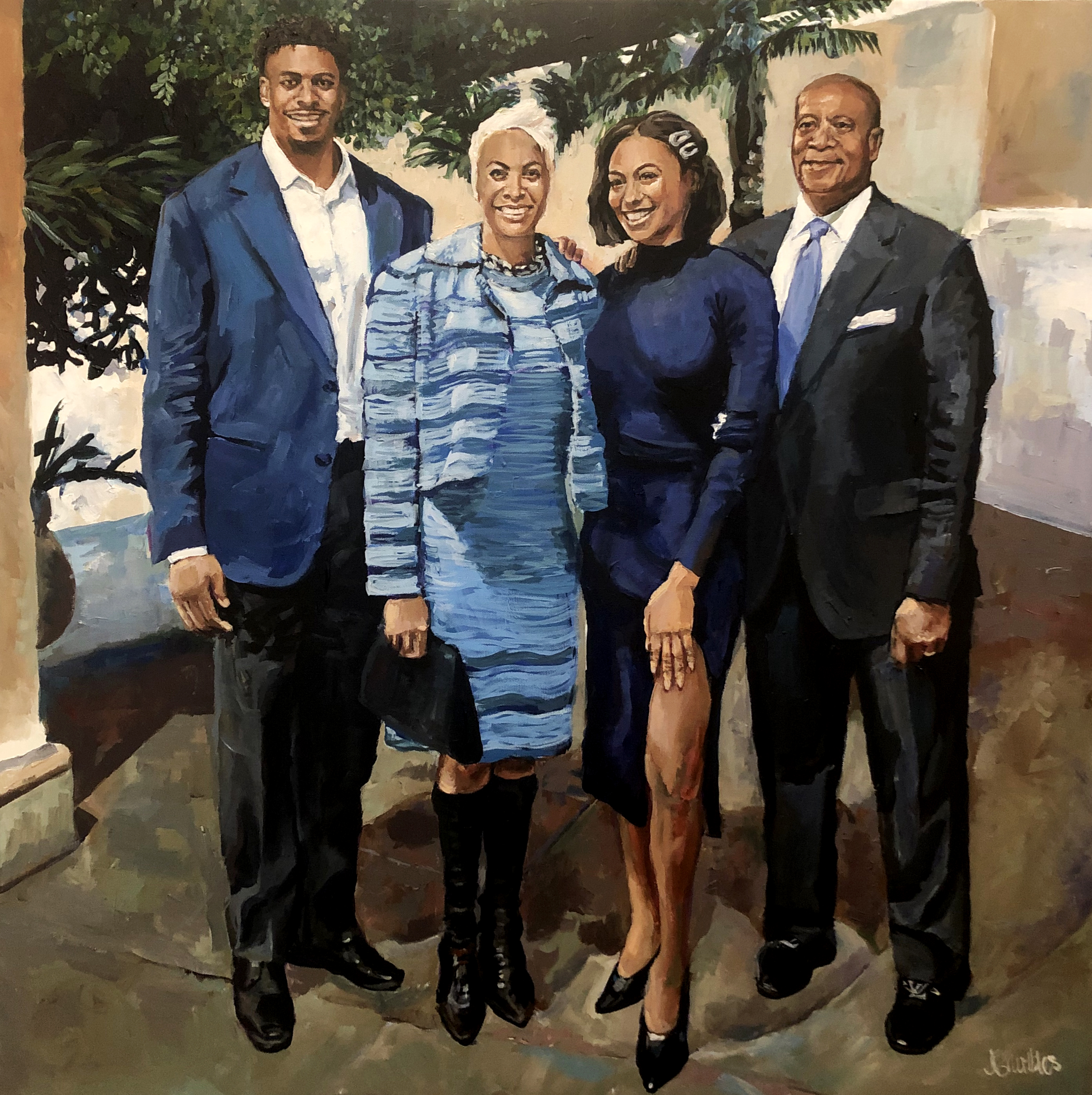 Warren Family 36x36