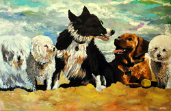 Cabo Dogs 48x72
