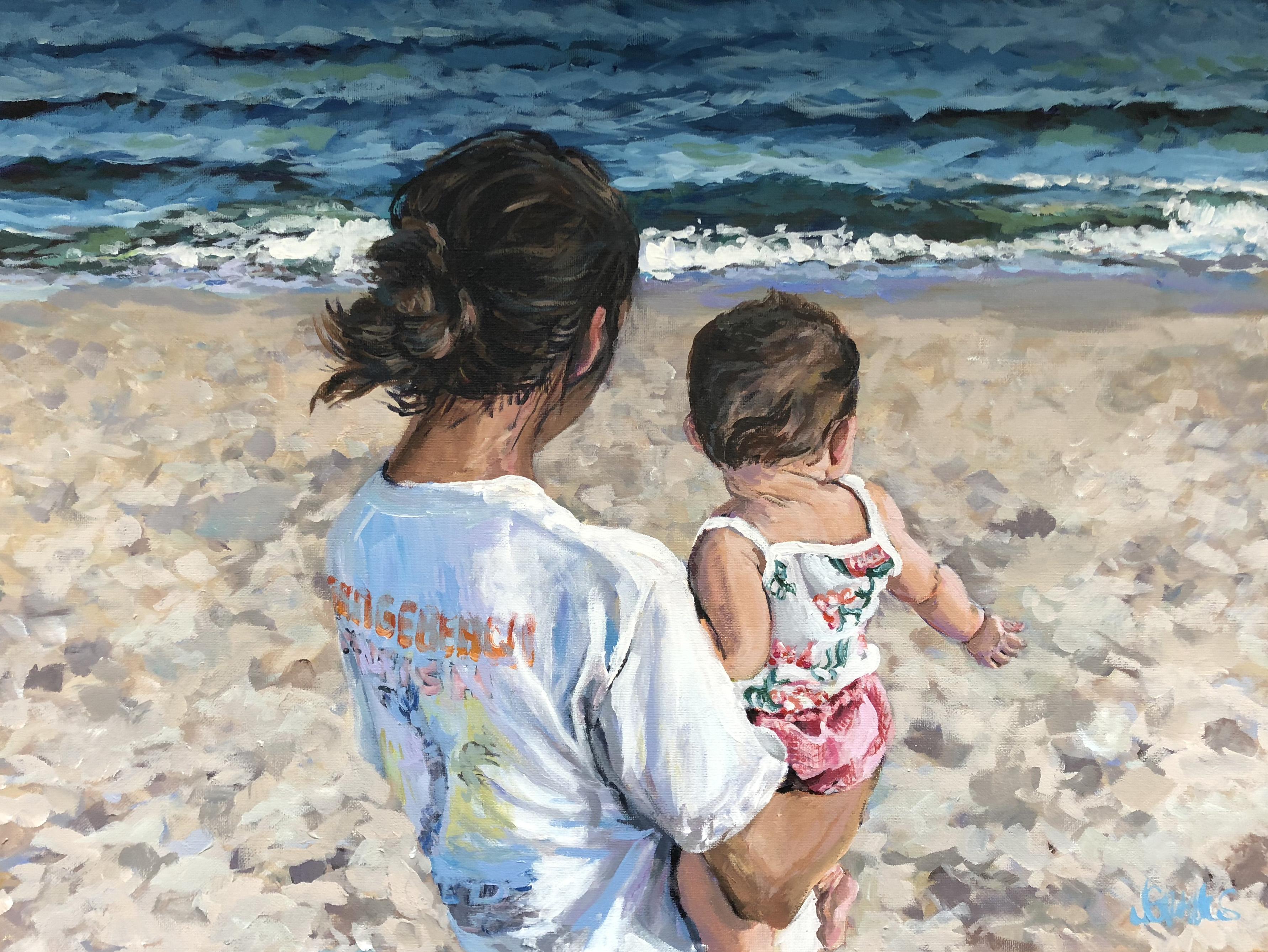 Hattie Orange Beach 18x24