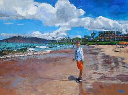 Maui Beach Baby 30x40