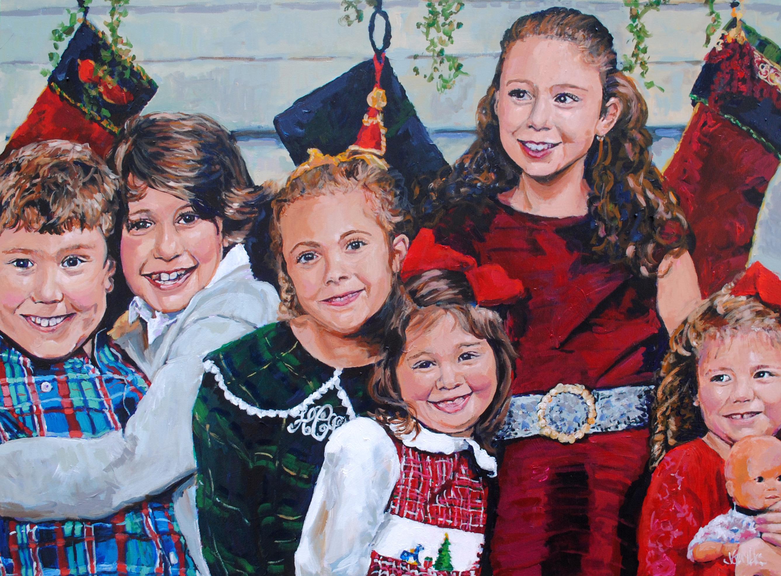 Corcoran Grandchildren 30x40