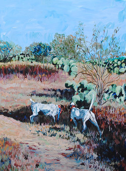 Thrill of the Hunt 30x40