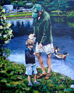 Feeding the Ducks 24x30