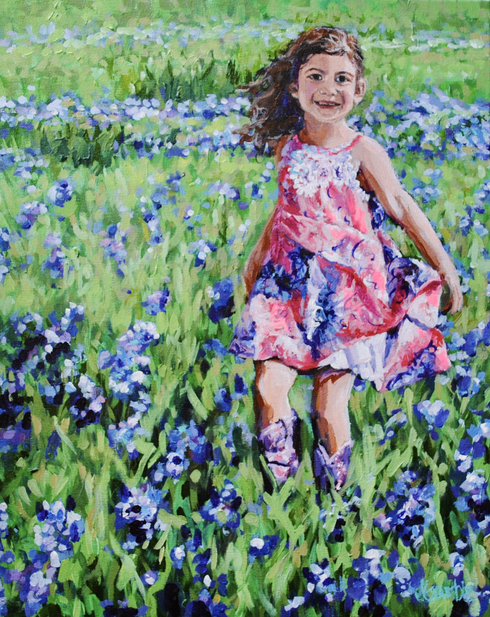 Davi in her Purple Boots 16x20