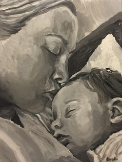 Charlotte and Mommy 12x16
