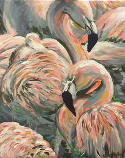 Flamingos 16x20
