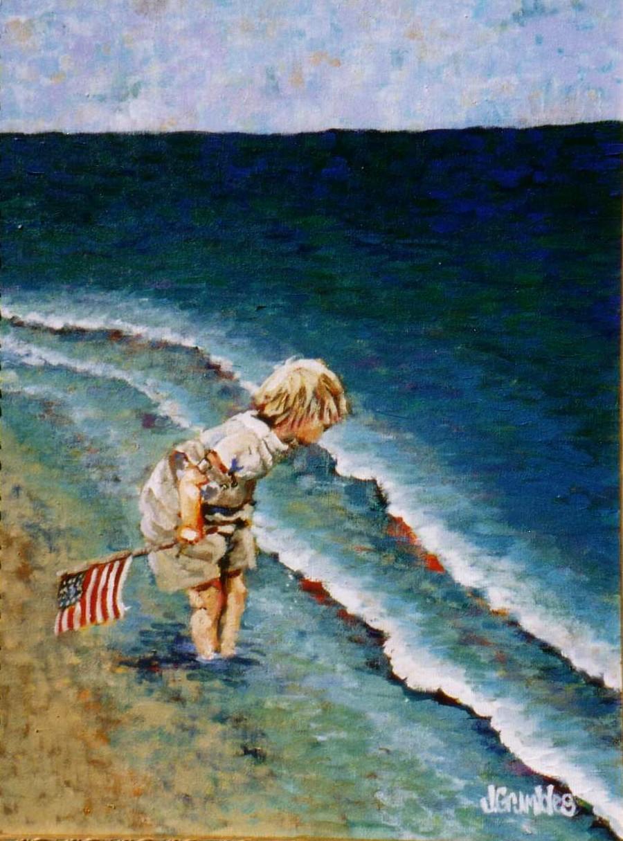 Beach Baby No 2 18x24