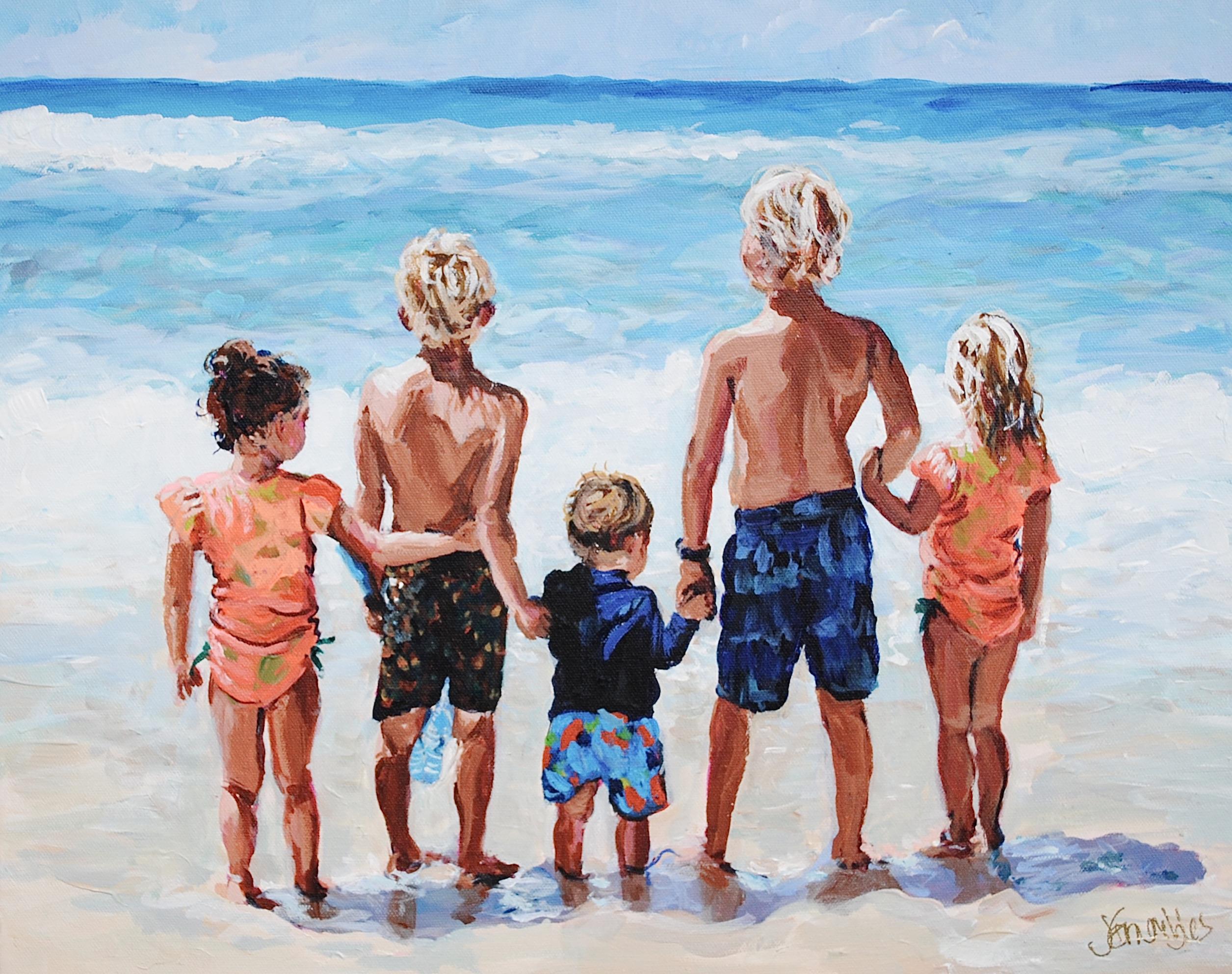 Davis Beach Babies 16x20