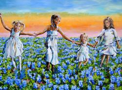 Bluebonnet Babies 24x36