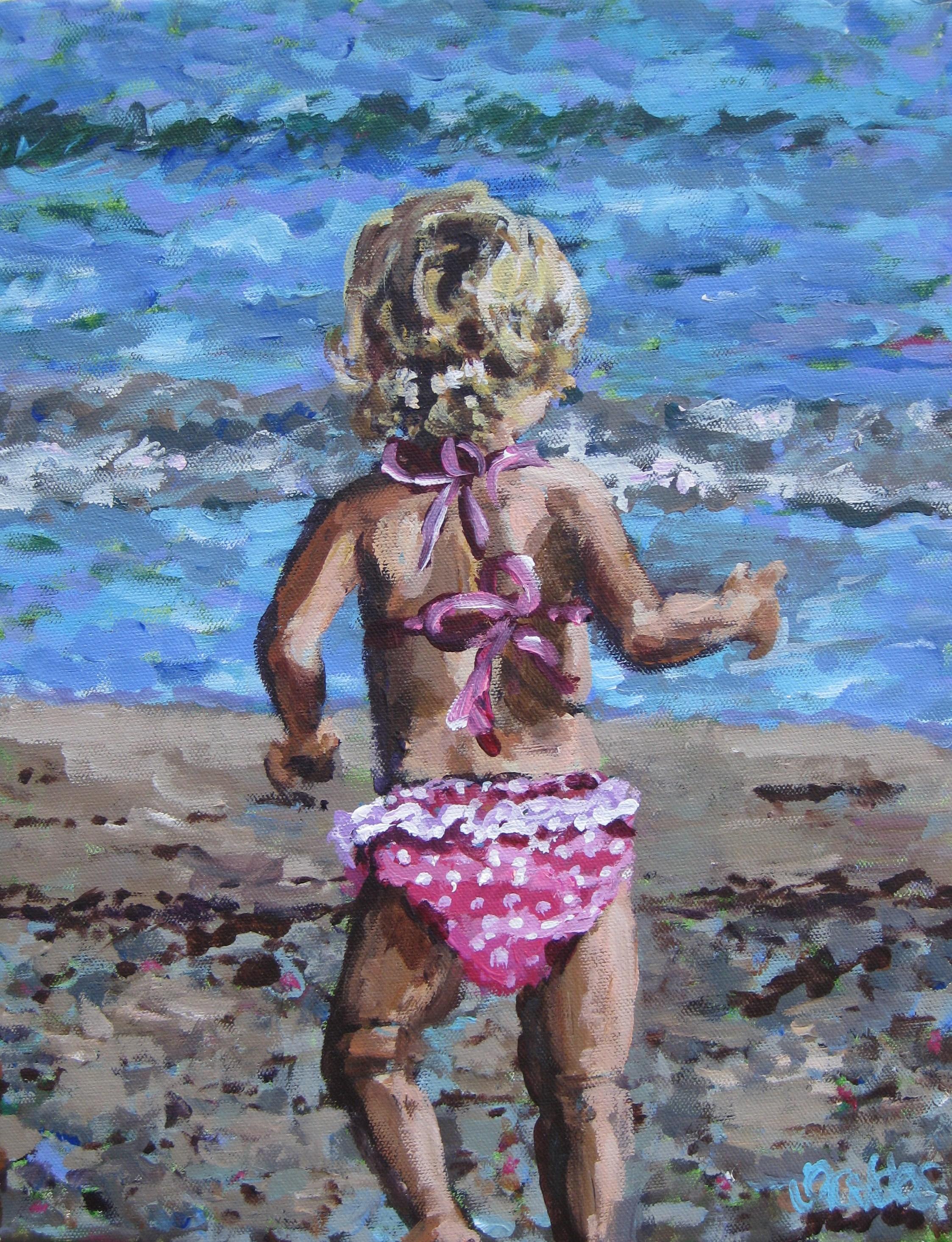 Beach Baby Girl 11x14