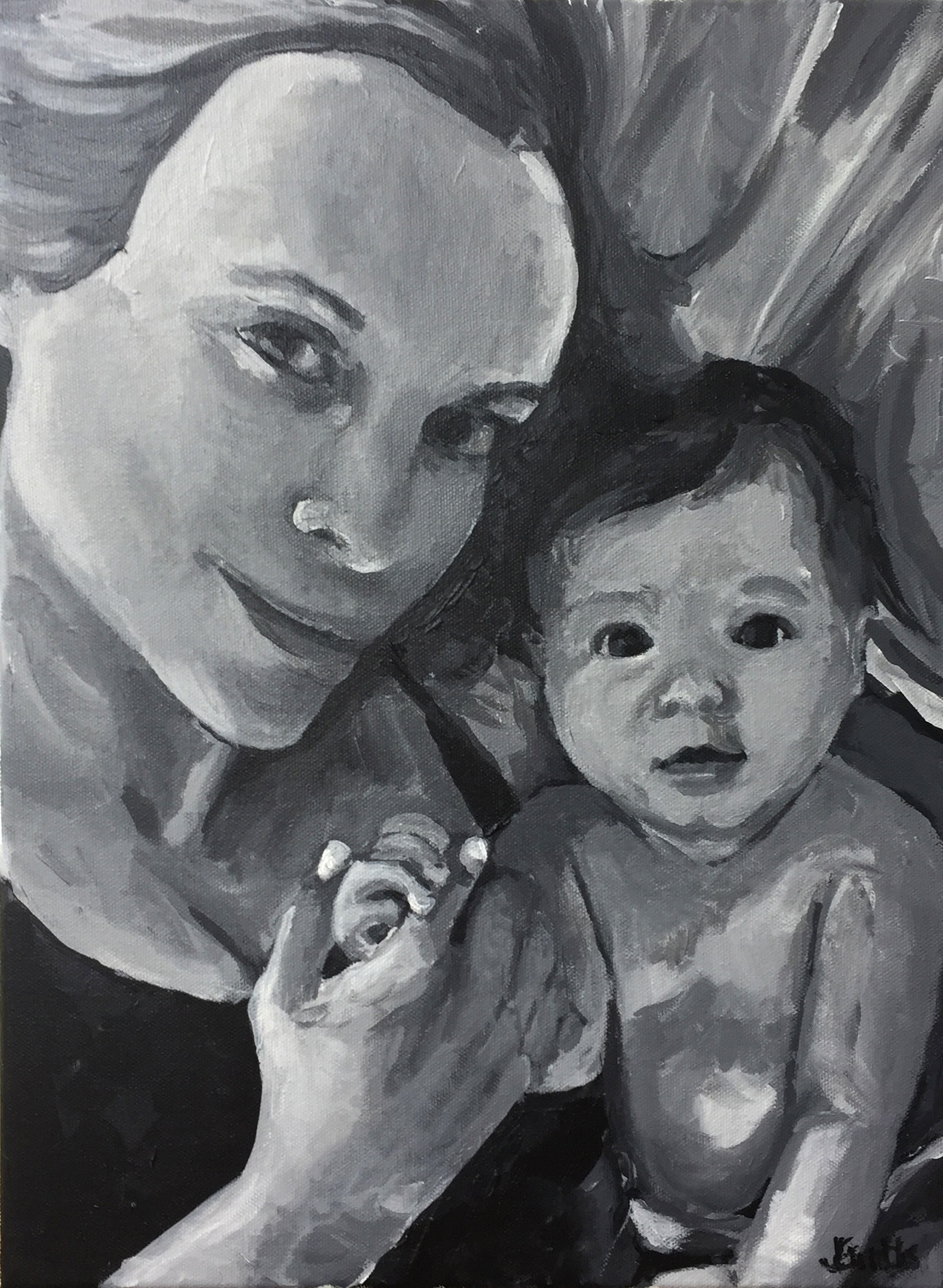 Mads and Mommy 12x16