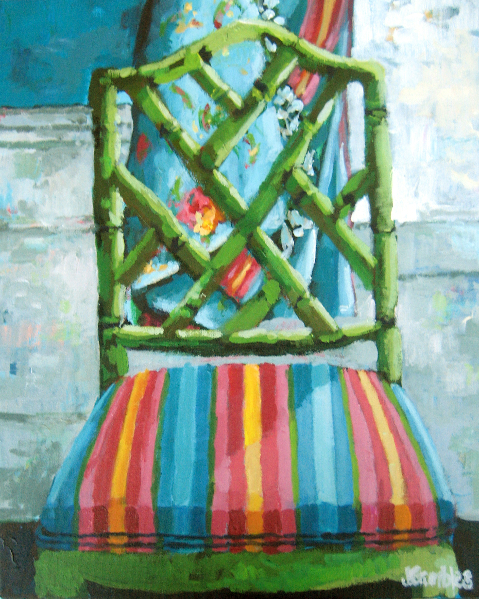 Faux Bamboo Chippendale 16x20