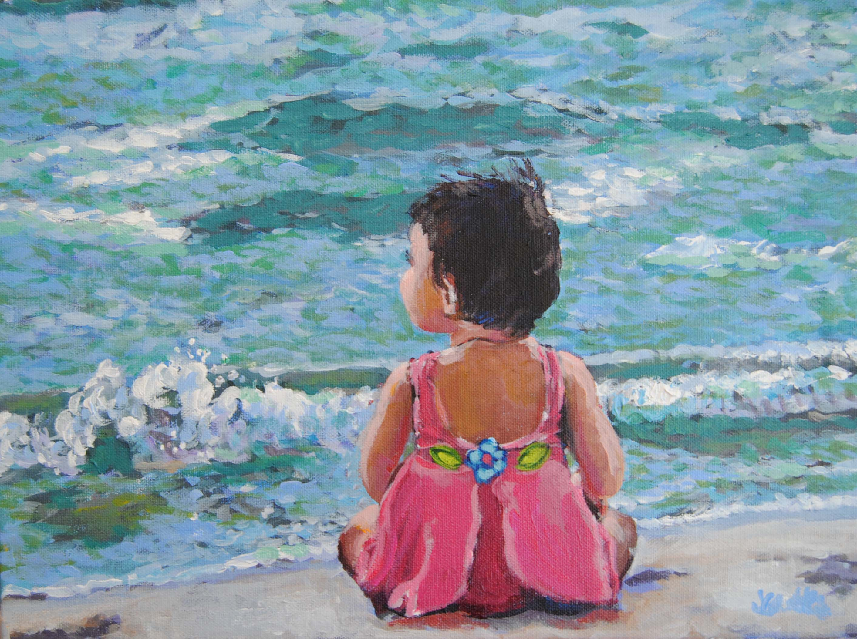Beach Baby Sophie 12x16