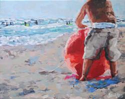 Beach Ball Baby 9.5x12