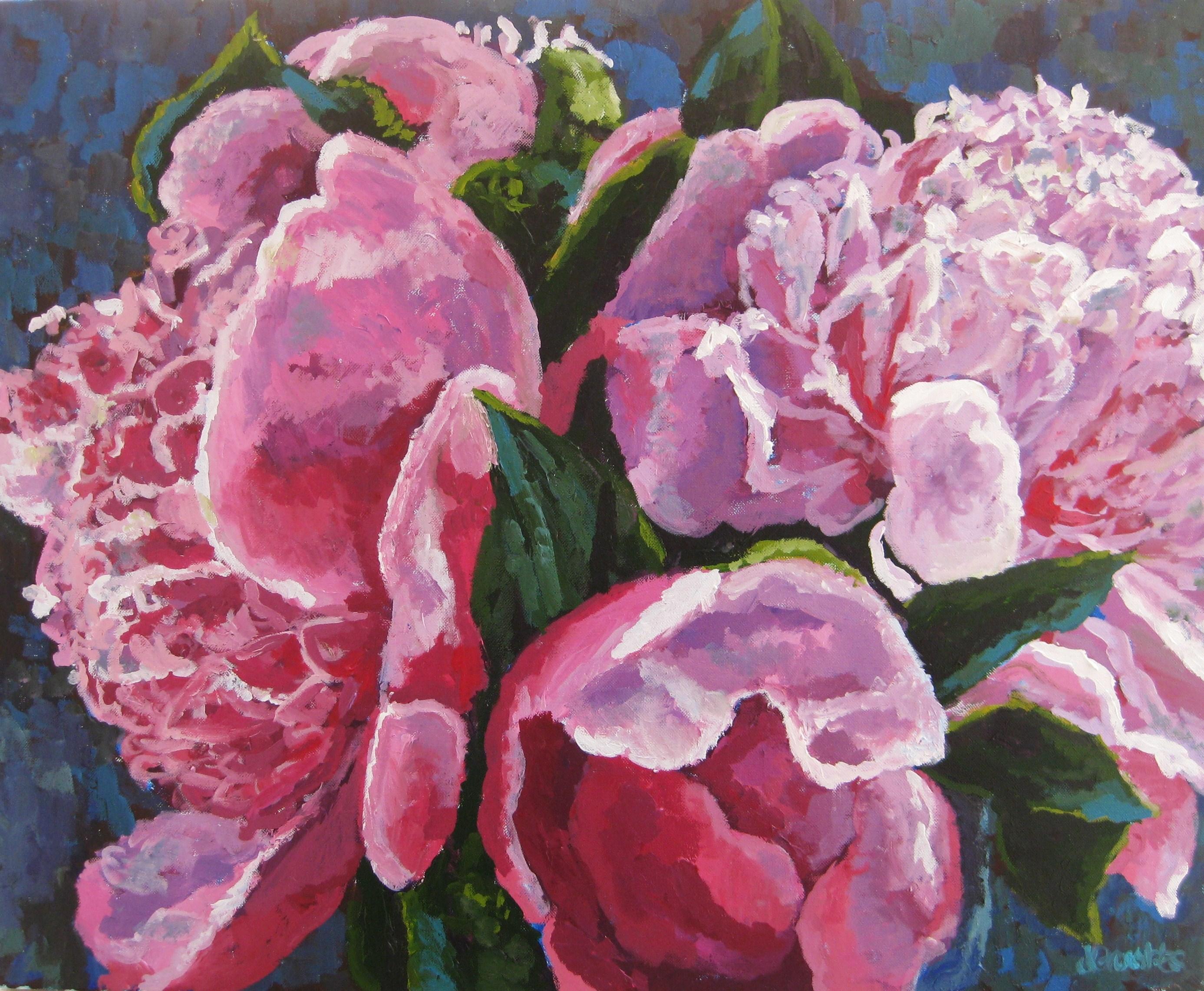 Pink Peonies 24x30
