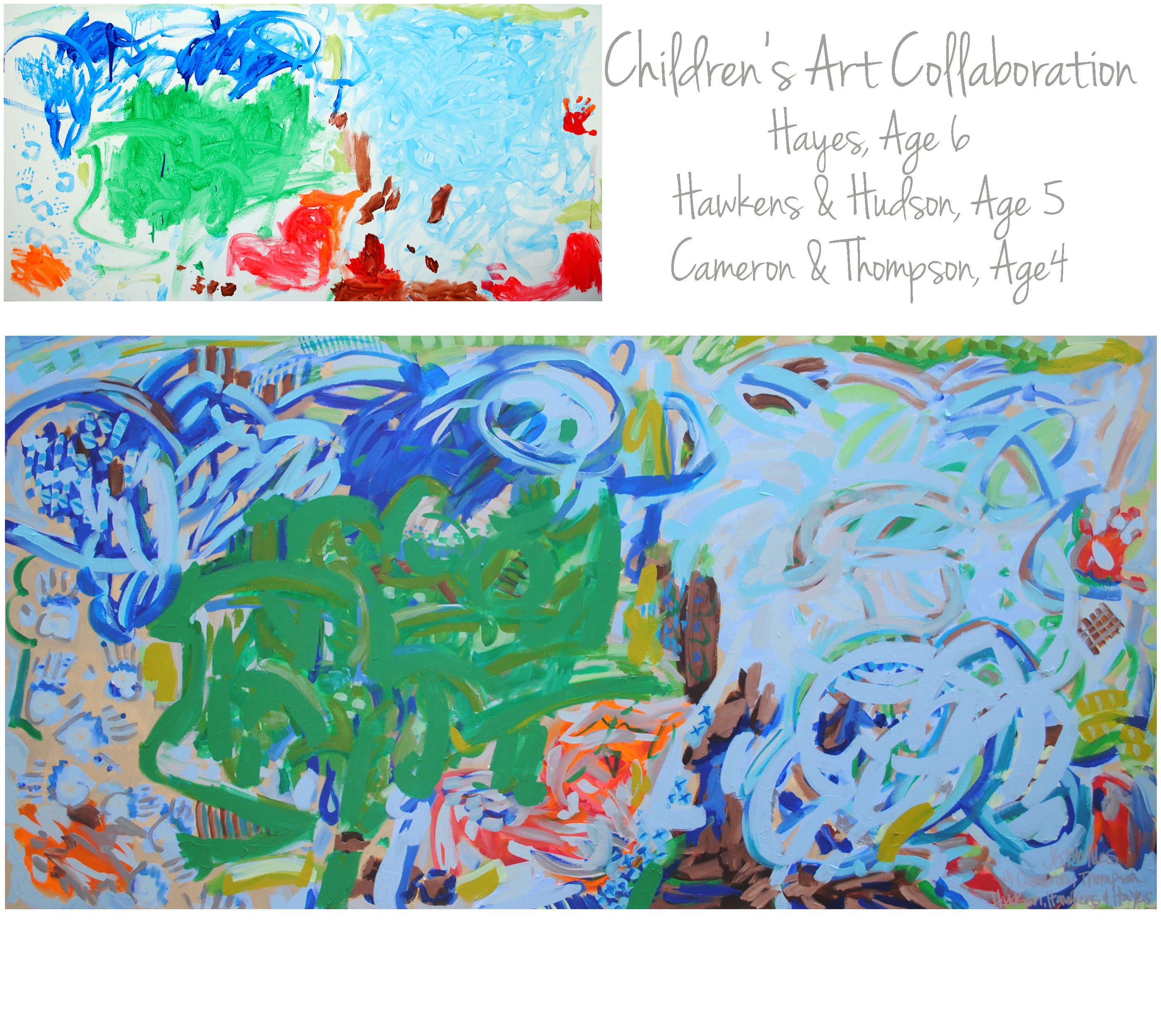 Holley Children Collab 36x72