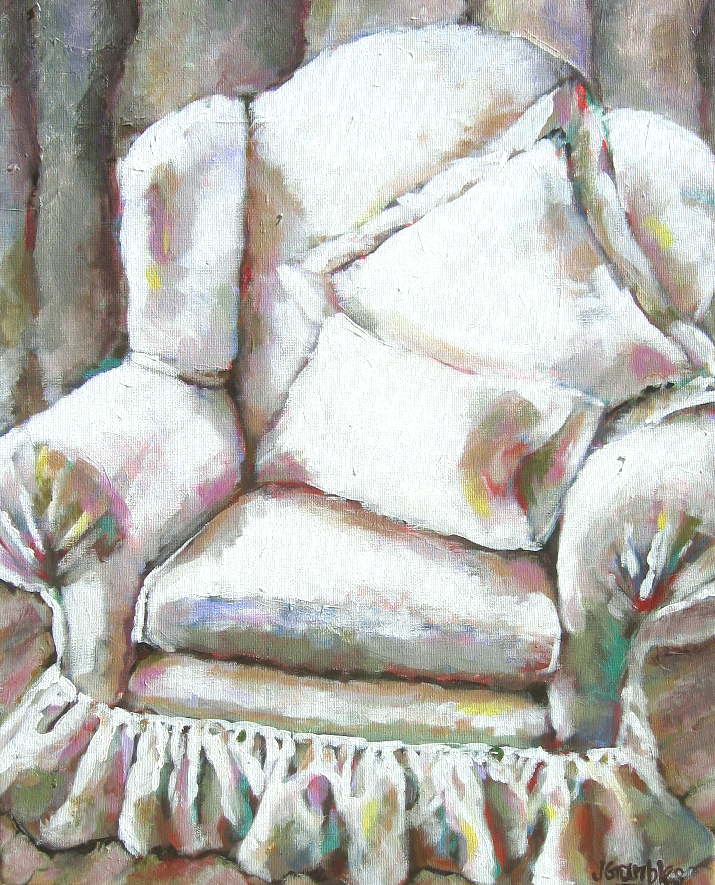 Big White Chair 16x20
