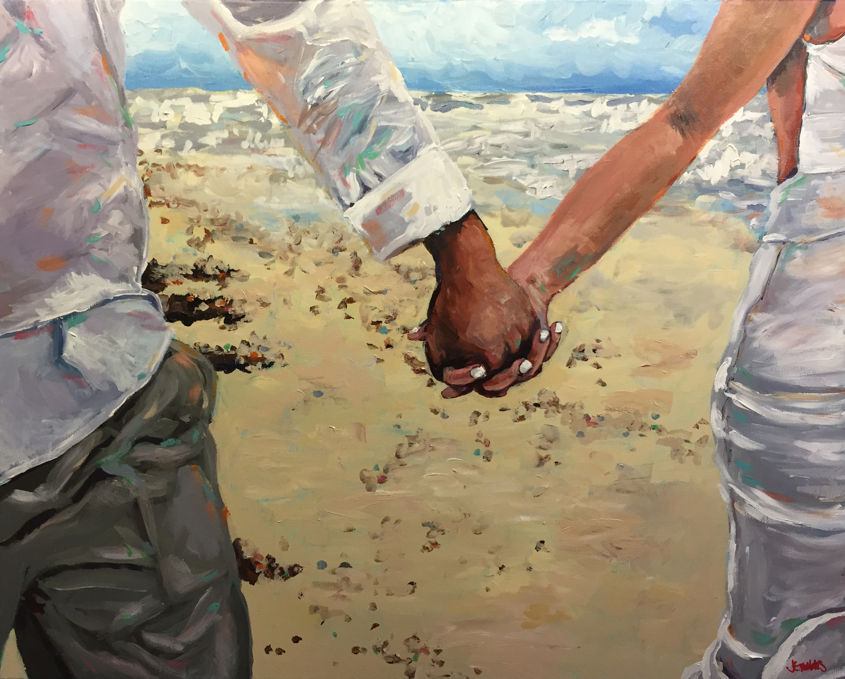 To Have and To Hold Hands 24x30