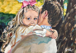 Reese and Daddy 5x7