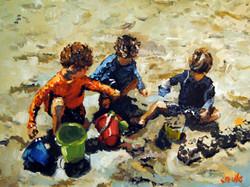 Sandcastle Team 18x24