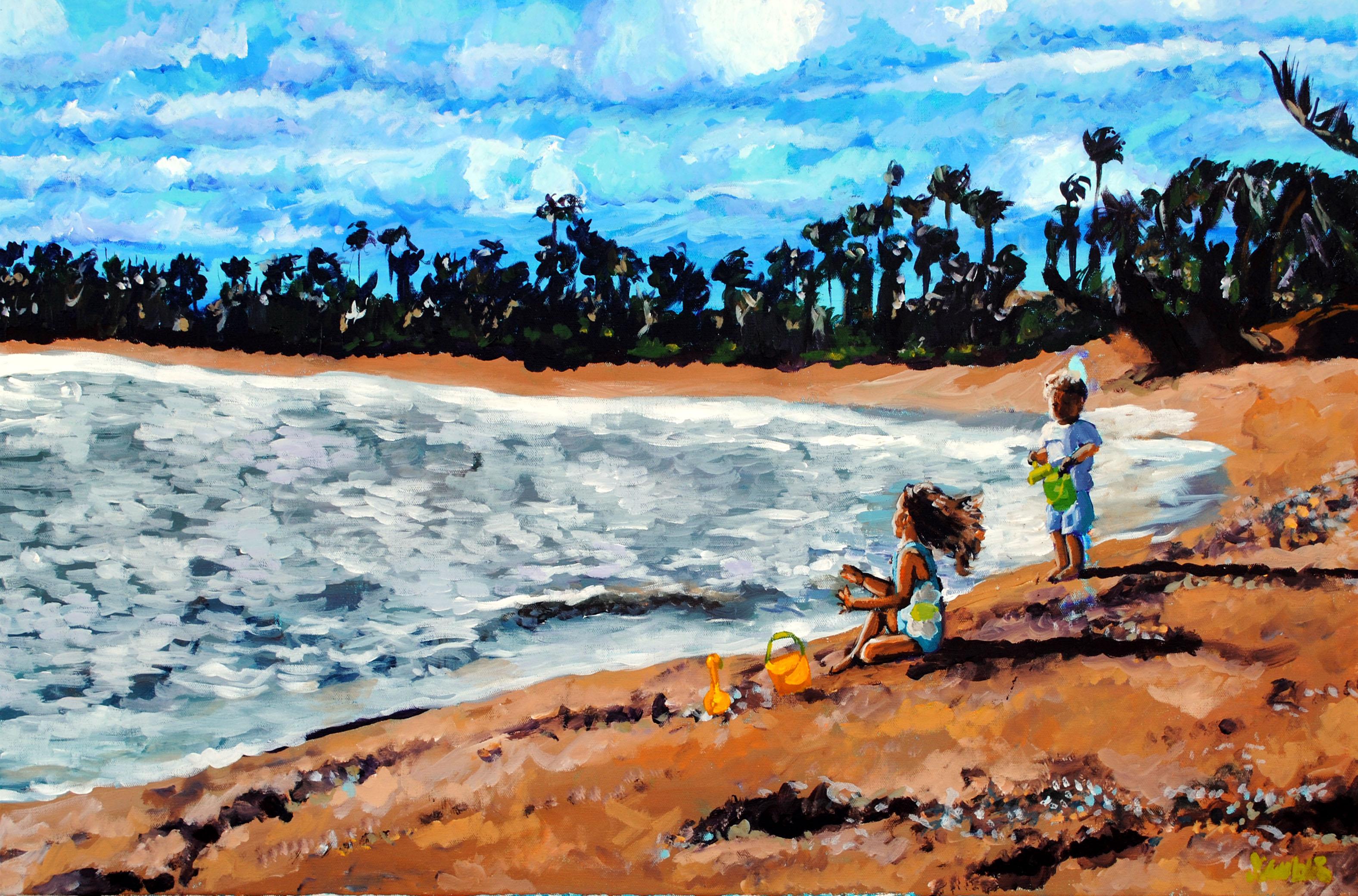 Eakes Beach Babies 24x36