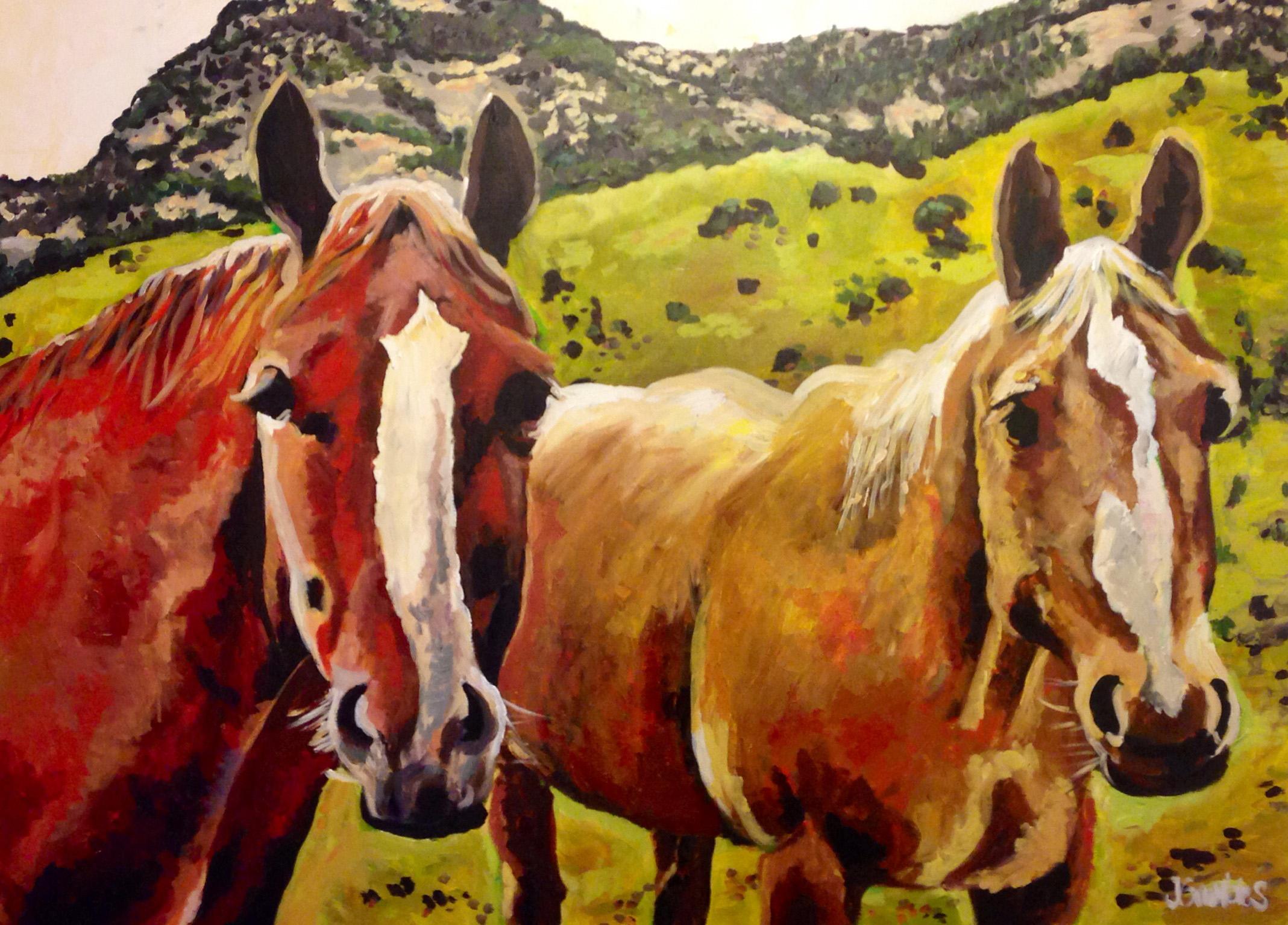 Jeanette's Horses 48x60