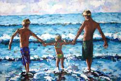 Laura's Beach Babies 24x38