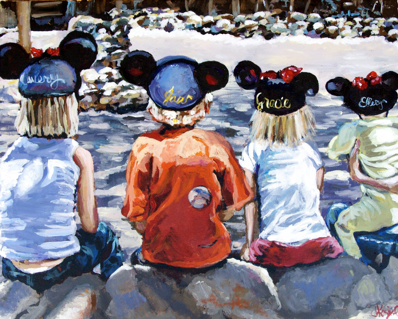 Halls at Disney 24x30