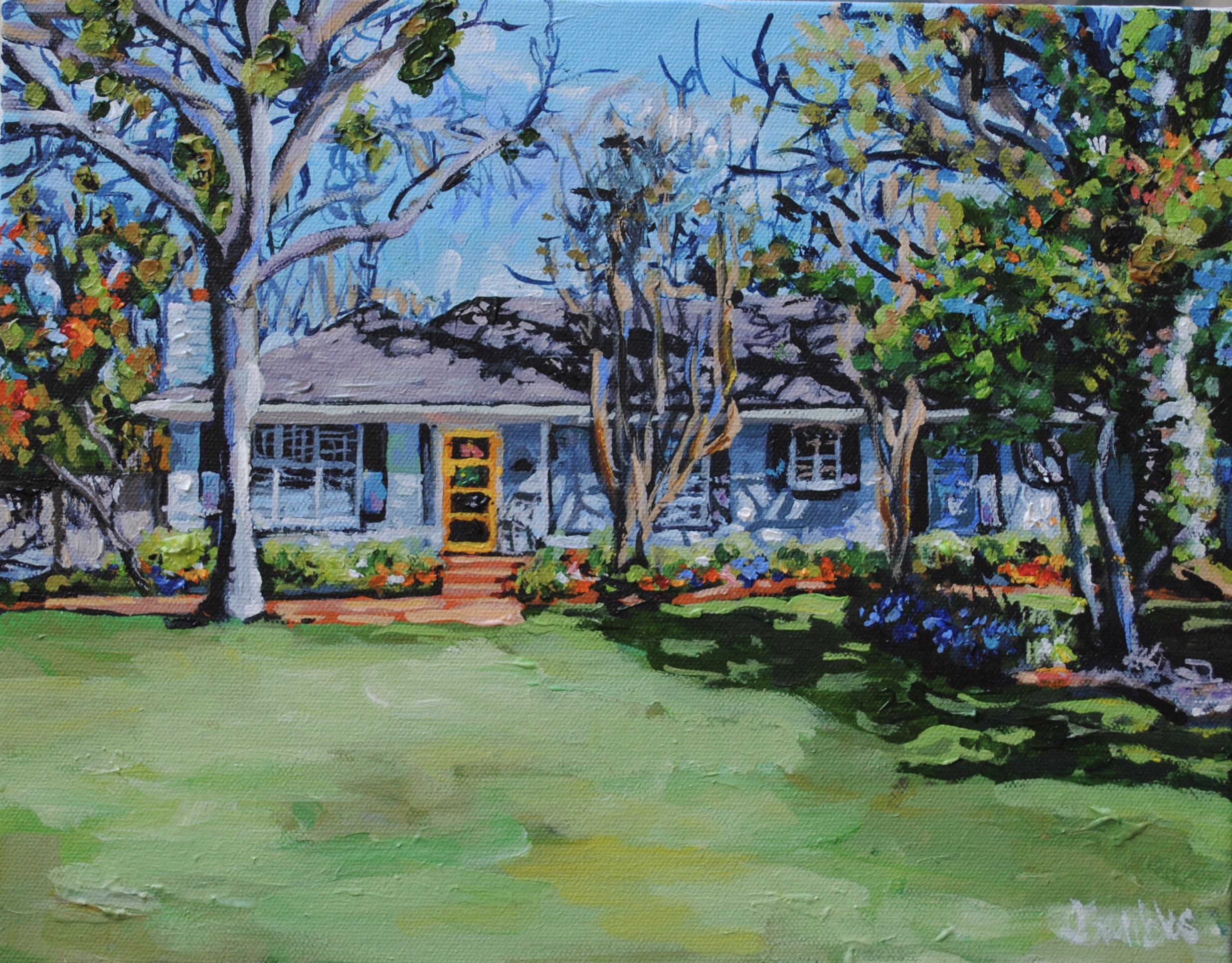 Yellow Door 11x14