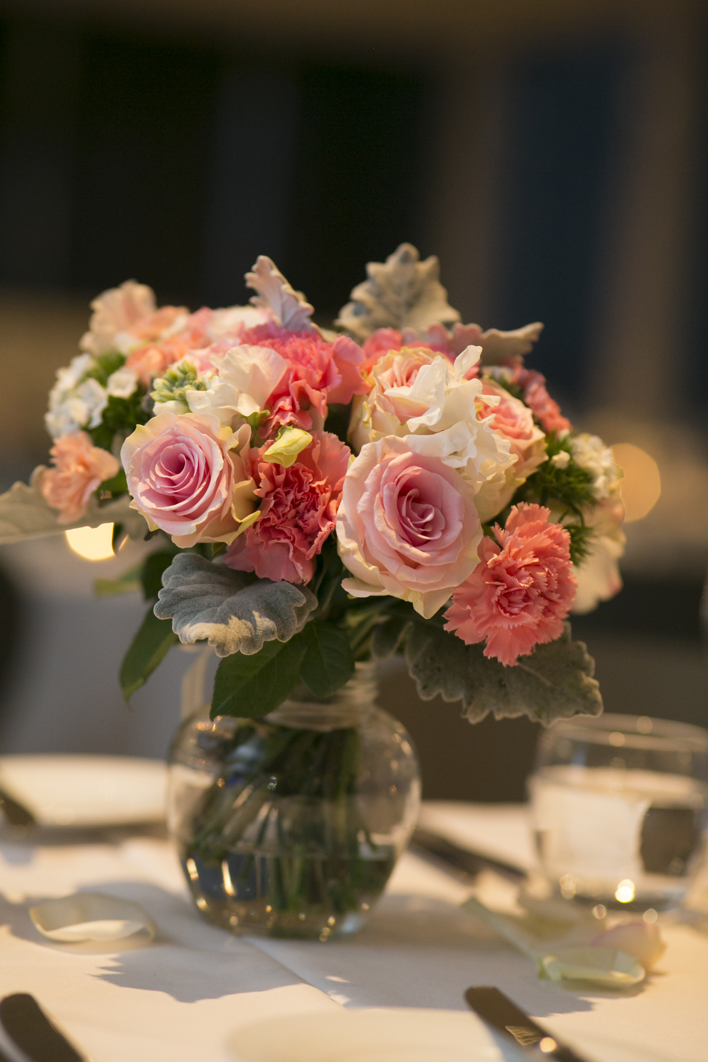 sweet posy centrepieces