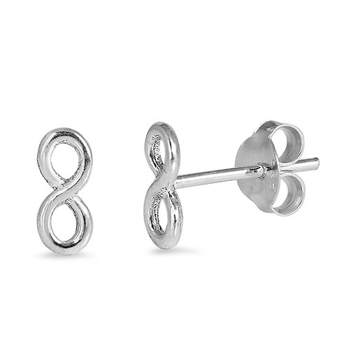 Small Infinity Sterling Studs