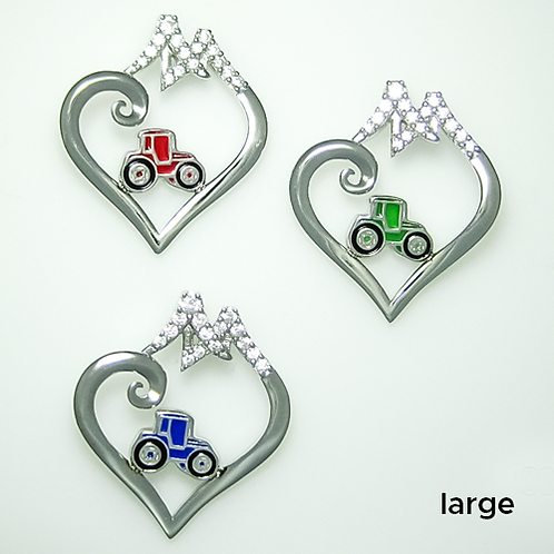 SS Bridge to Her Heart Tractor Necklace