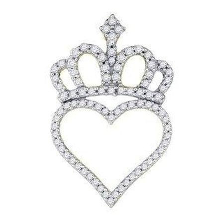 14kt Heart Crown Pendant